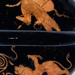 M14.5 Bellerophón Pegazus és Khimaira. Louvre, Párizs. I.e. 420 - 400.