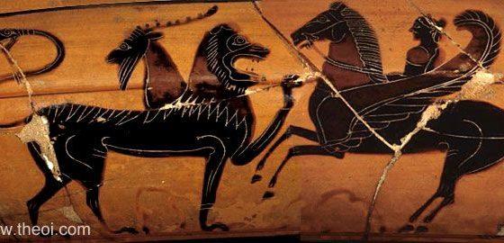 P29.3 Khiméra, Bellerophón és Pégaszosz. I.e. 560 - 550