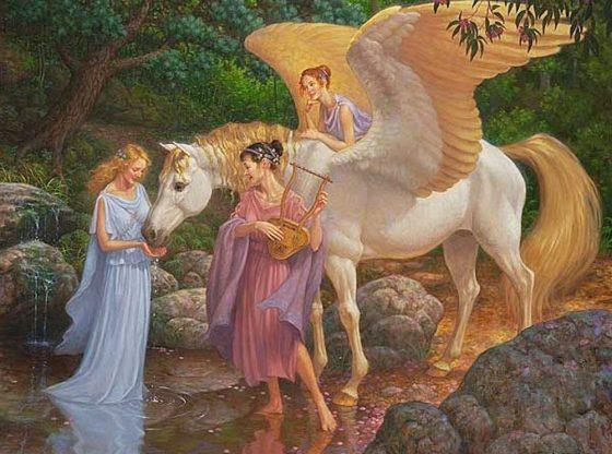 Az angyalok felkészítik a pegazust