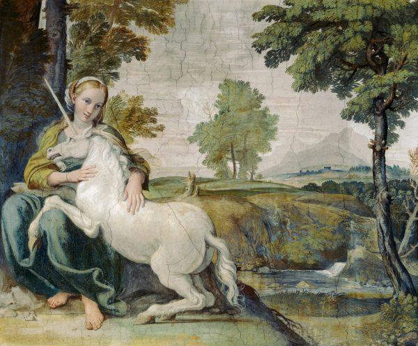 Domenichino: A szűz és az egyszarvú, 1602 körül