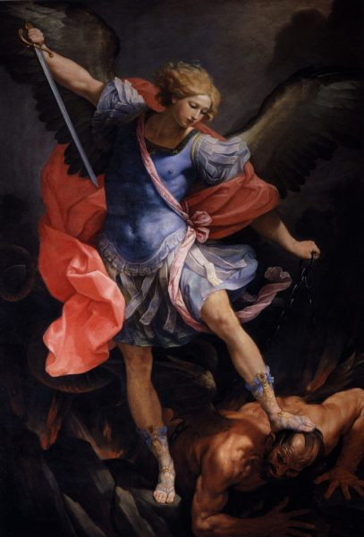 Guido Reni: Mikhá'él arkangyal legyőzi a sátánt. Mikhá'él arkangyal tisztító lángja - angyalmágikus gyakorlat