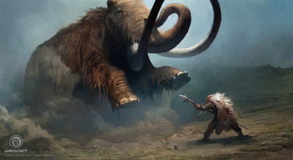 Harc a mamuttal. Naomi Savoie alkotása