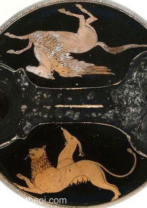 M14.4 Pegazus és Khimaira. I.e. 420 - 400.