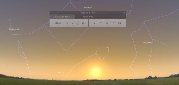 Pegazus csillagkép 2017.03.21. napkelte tavaszi napéjegyenlőség