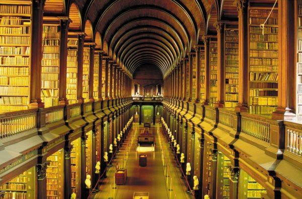 Trinitiy College könyvtára Dublinban